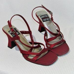 Vintage Mootsies Tootsies Slingback Strappy Heels